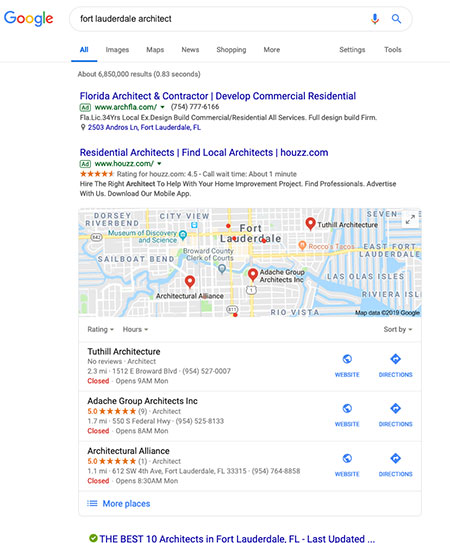 Image of search results page