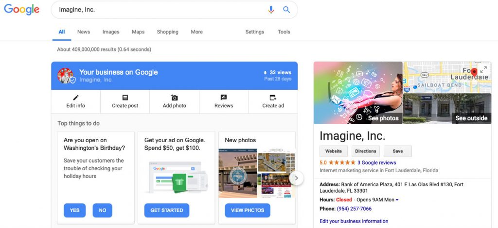 Image of Google My Business Listing