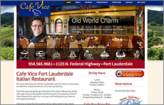 3 restaurant website design