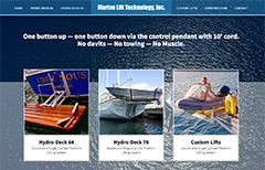 marine website design